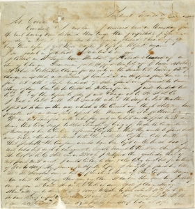 Letter from James A Beaver Papers