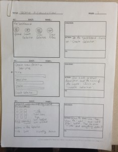 "Picture of Storyboard for the Screencast ""How to Create a Collection"""
