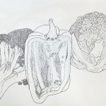 Foundation | ART 110S | Line drawing of vegetables