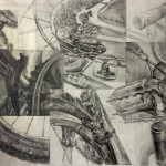 Foundation | ART 110S | Composite drawing of a bicycle
