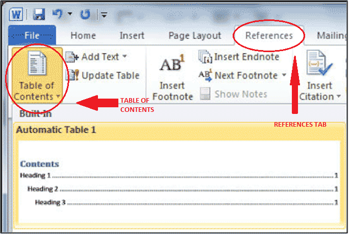 Word 2010/2013 for Windows Table of Contents Tool