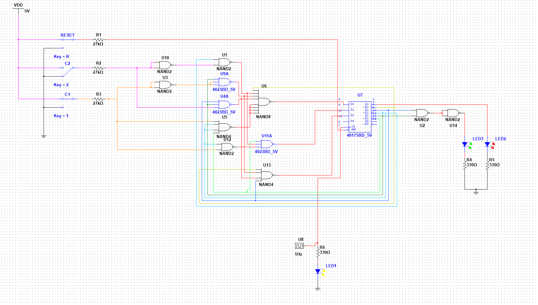 Work In Progress Alex Hench D Type Flip Flop Circuit Diagram The Multisim File Is Design Of A Combinational Lock Realizing Finite State Machine With Flops Nand Gates And Clock Input