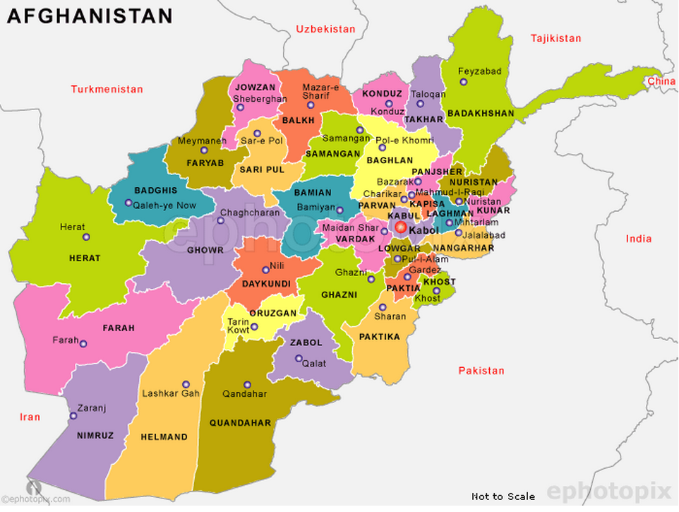Map Of Natural Resources In Afghanistan