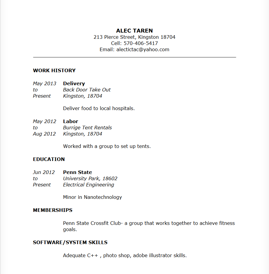Fancy Psu Engineering Resume Inspiration - Administrative Officer ...
