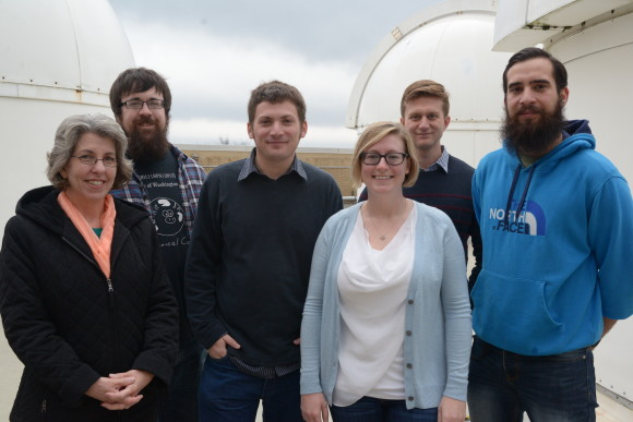 The Penn State LIGO Group. From left to right: Randi Neshteruk, Cody Messick, Chad Hanna, Sydney Chamberlin, Alex Pace, Duncan Meacher. Image from: ligo.psu.edu