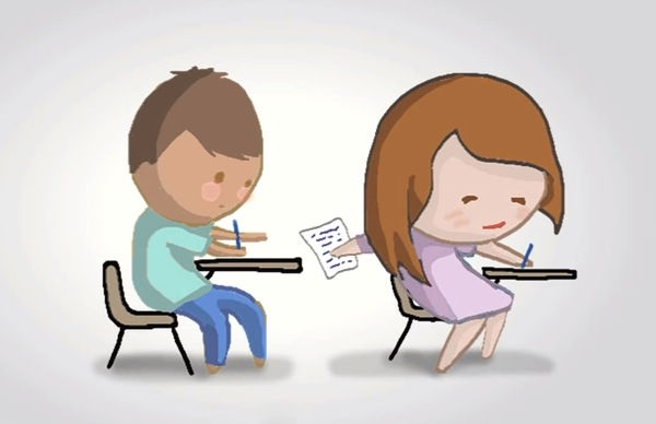 cheating in college It's not cheating as long as the tests are old, and the questions won't be used again if they're just used as a guideline for the subject matter of the test, and they're not an actual copy of the current test, then it's a study tool.