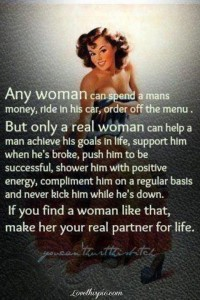 Sexist Message: A woman's purpose is to serve a man's every need.