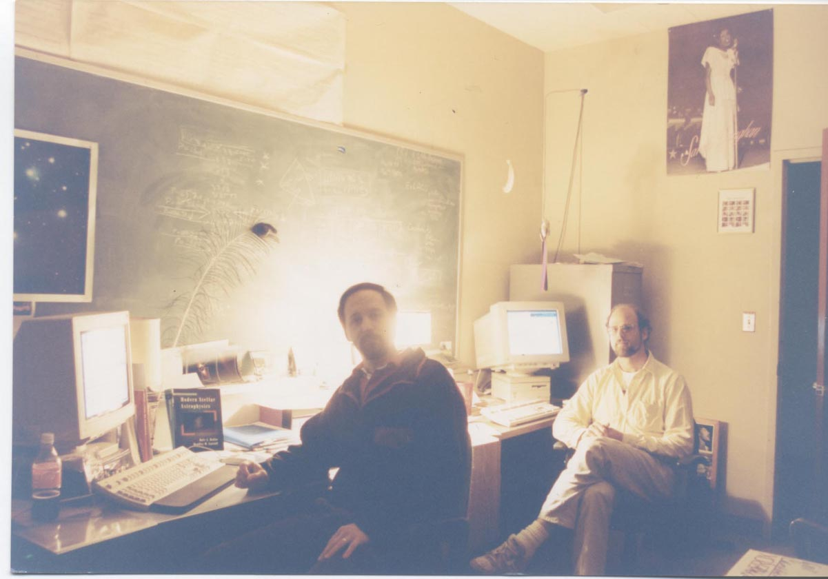 Geoff and Paul in their UC Berkeley office circa 1994.