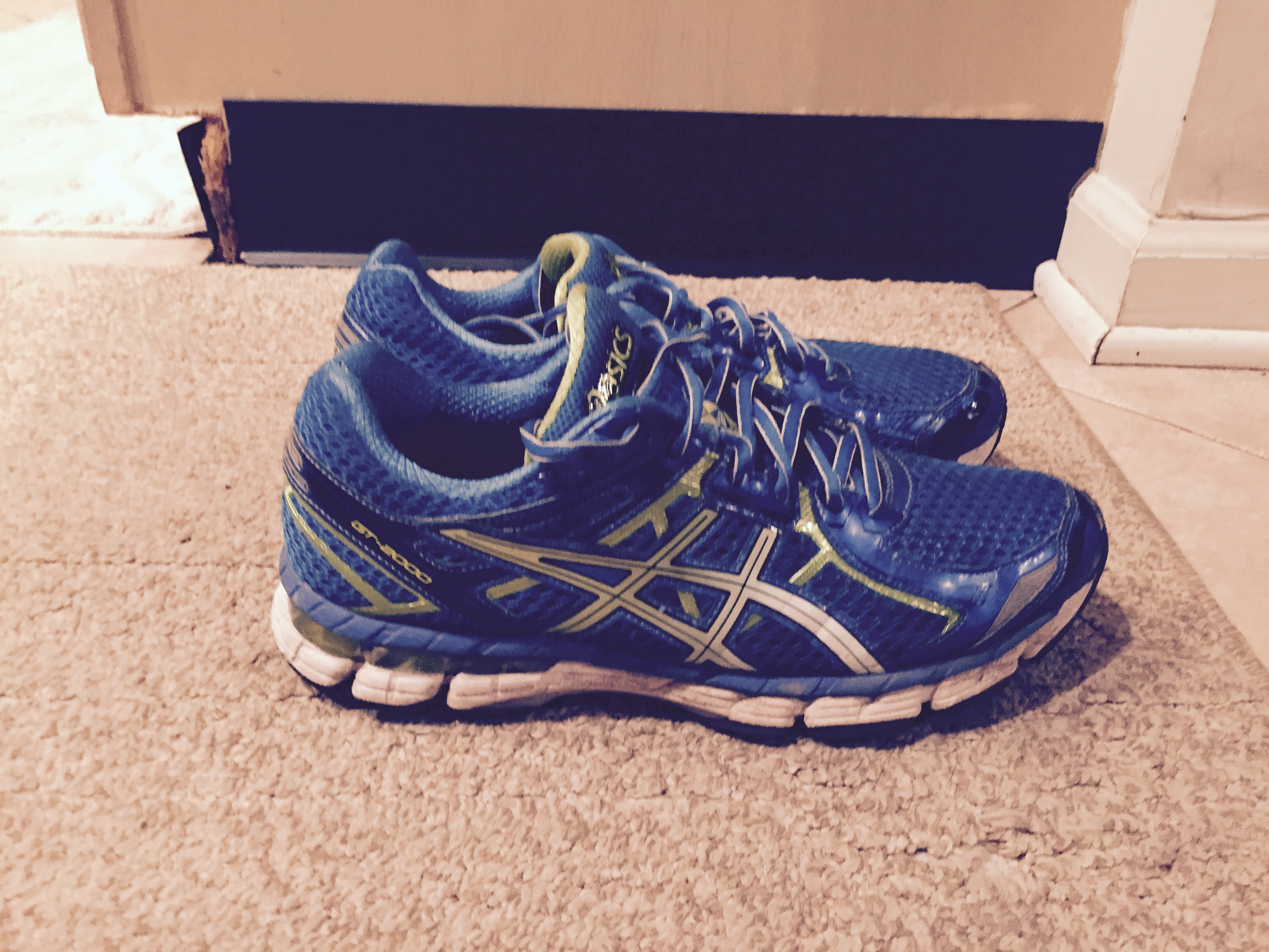 My dads Asics that are durable,stylish, comfortable and have helped fix his knee