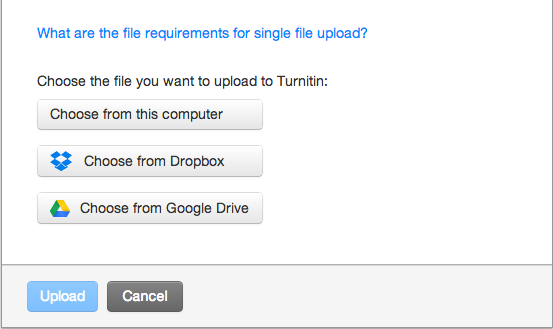 Upload to Turnitin From Google Docs or Dropbox