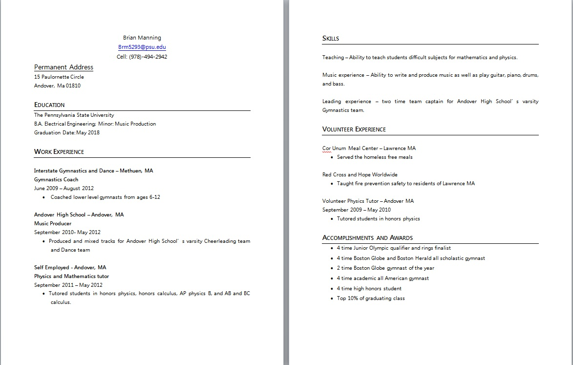 graphic resumes and adobe illustrator