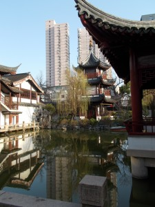 One of the three courtyards at the Confucian Temple
