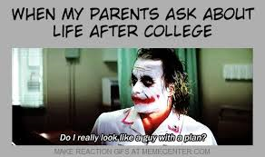after graduating from college