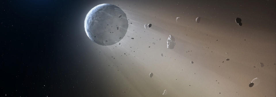 A disintegrating minor planet transiting a white dwarf
