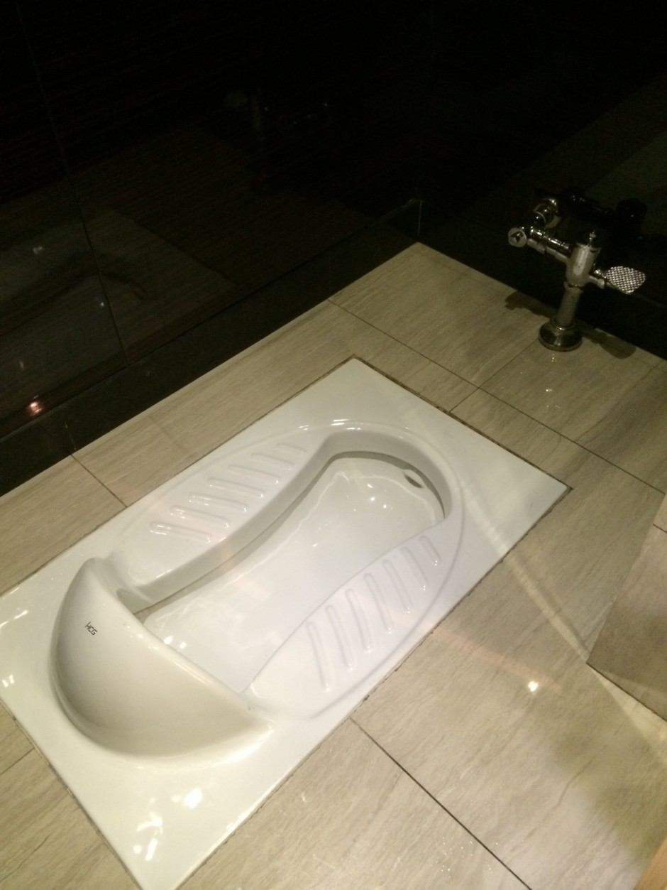 Toilets in public areas are extremely rare as Chinese believe they aren't sanitary. (Photo credit: Lola Buonomo)