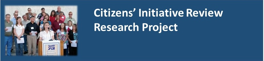 Citizens' Initiative Review Research Project