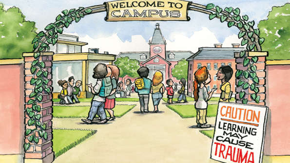 Image result for college free speech safe spaces trigger warnings