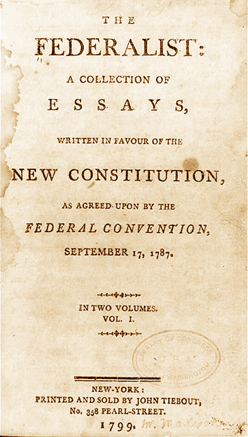 alexander hamiltons first federalist paper Alexander hamilton was one of the founding fathers of the united states, who later on became the first us secretary  1757 a probate paper drafted after his.