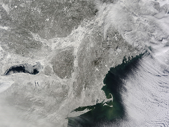 The snow-covered northeastern states