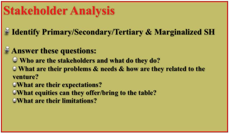 what are primary and secondary stakeholders