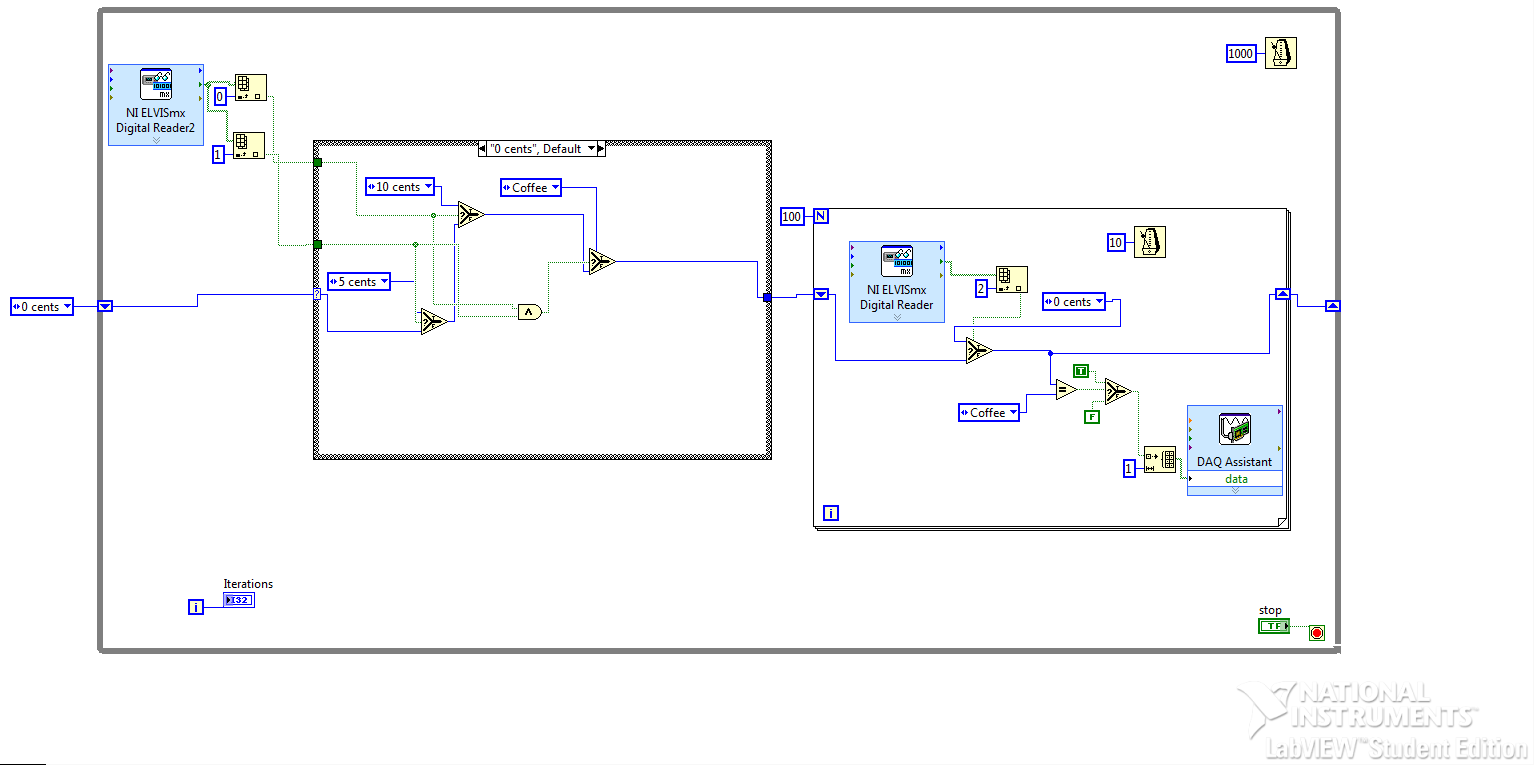 Accomplishments Evan Gebhardt Vending Machine Wiring Diagram By Using The Above Circuit Connected To Mydaq And Labview Code Fsm Was Also Implemented