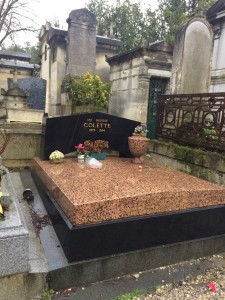 French author Colette's bed-like grave marker.