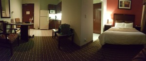 Our lovely home for the night.