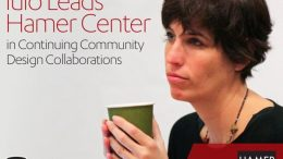 Image of new director of the Hamer Center, Lisa Iulo, holding a coffee mug