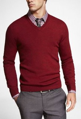 Men s interview attire for Sweater and dress shirt combo