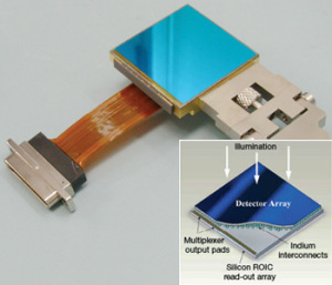 A hybrid CMOS detector much like the one that will be used in HPF. -