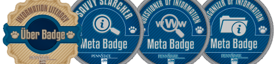Information Literacy Badges at Penn State