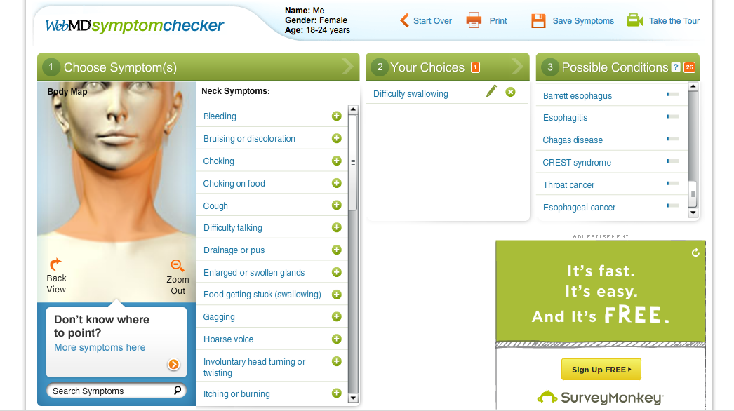 Symptom Checker from WebMD. Check Your Medical Symptoms.