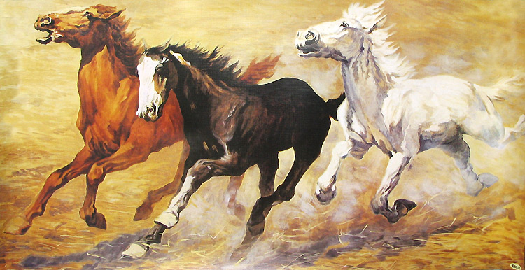 wild horse oil paintings