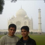 Photo taken before the Taj Mahal in Agra, India