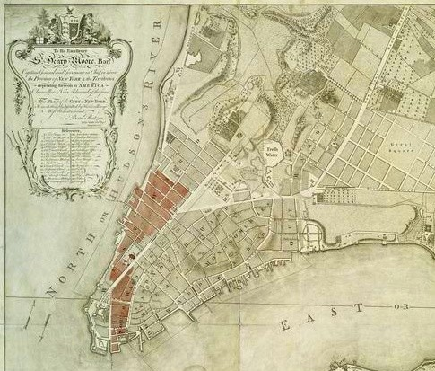 Map Of New York 1776.Reading The Historical New York Cityscape Part 2 Fire Ice And