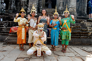 Student immersed in cultural traditions on study abroad trip