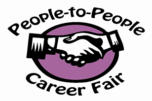 People to People Career Fair logo: two hands shaking