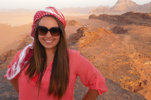 Photo of the Author in Wadi Rum, Jordan