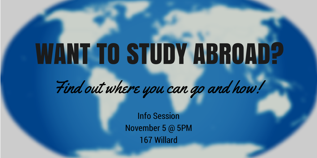 Study Abroad Info Session Nov 5