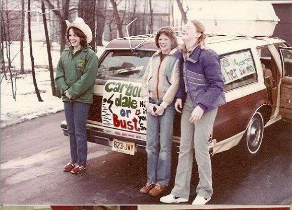 We were heading off for the state championships in 1982.  First last and only time you will see me in a cowboy hat.