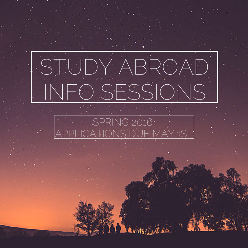 study AbroadInfo Sessions