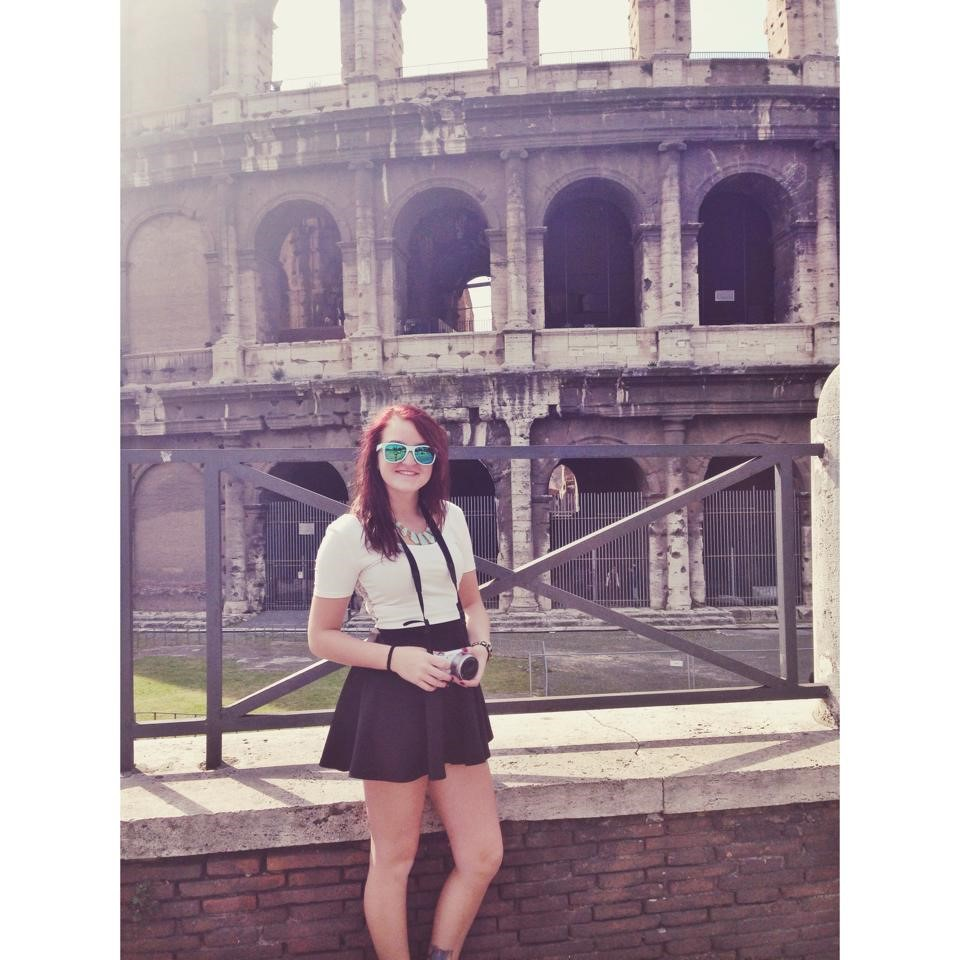 2014 Spring Semester: Trip to Italy. This is outside of the Colosseum.