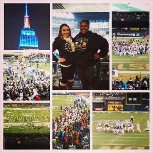 Highlight of senior year: Going BOWLing in Yankee Stadium with the Penn State Nittany Lions and one of my really great friends, Michelle.