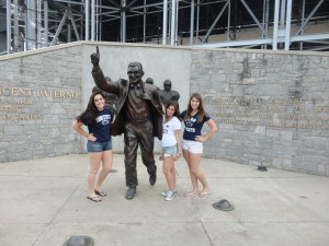 Picture With the JoePa Statue