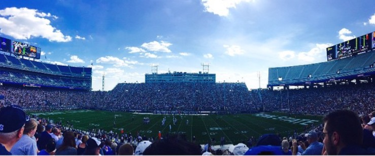 The stadium during the Blue & White weekend