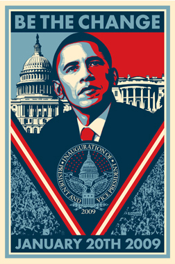Thesis Statement  Presidential campaign posters such as Barack Obama    Obama Campaign Poster Official