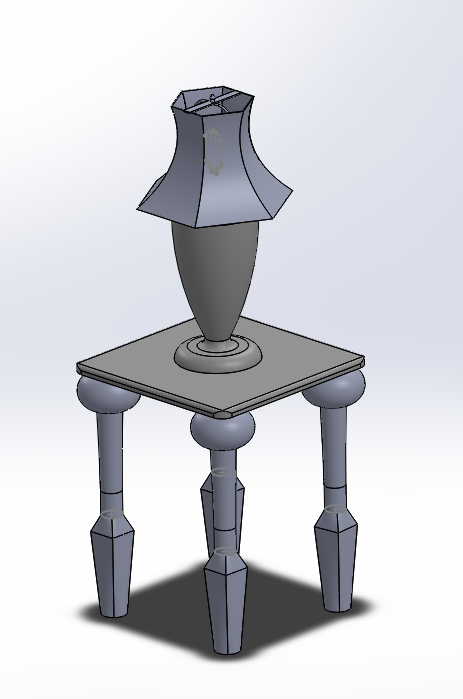 Lamp and Table SolidWorks Assembly | L  Tyler Williams