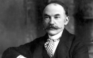 Thomas Hardy, famous English poet and novelist. Hardy was heavily influenced by Charles Dickens, who also was also highly critical of Victorian society.
