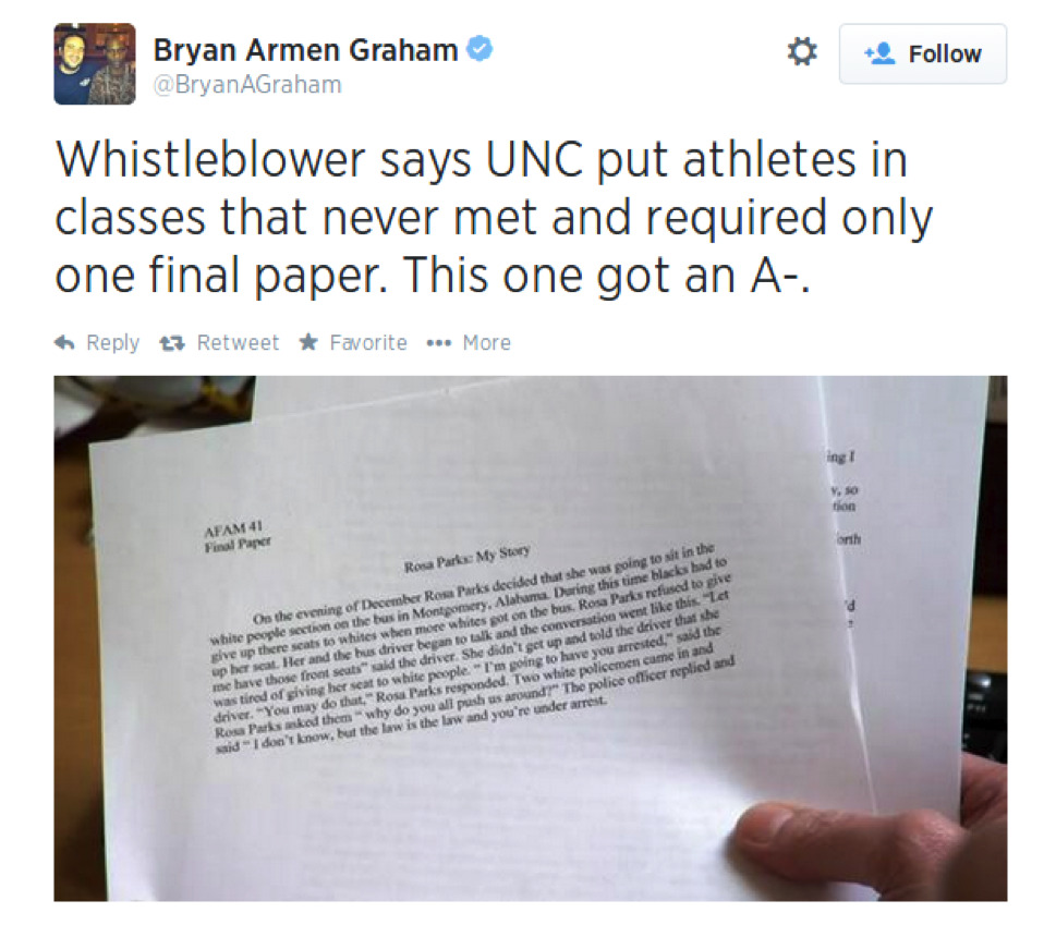 Unc student athlete term paper