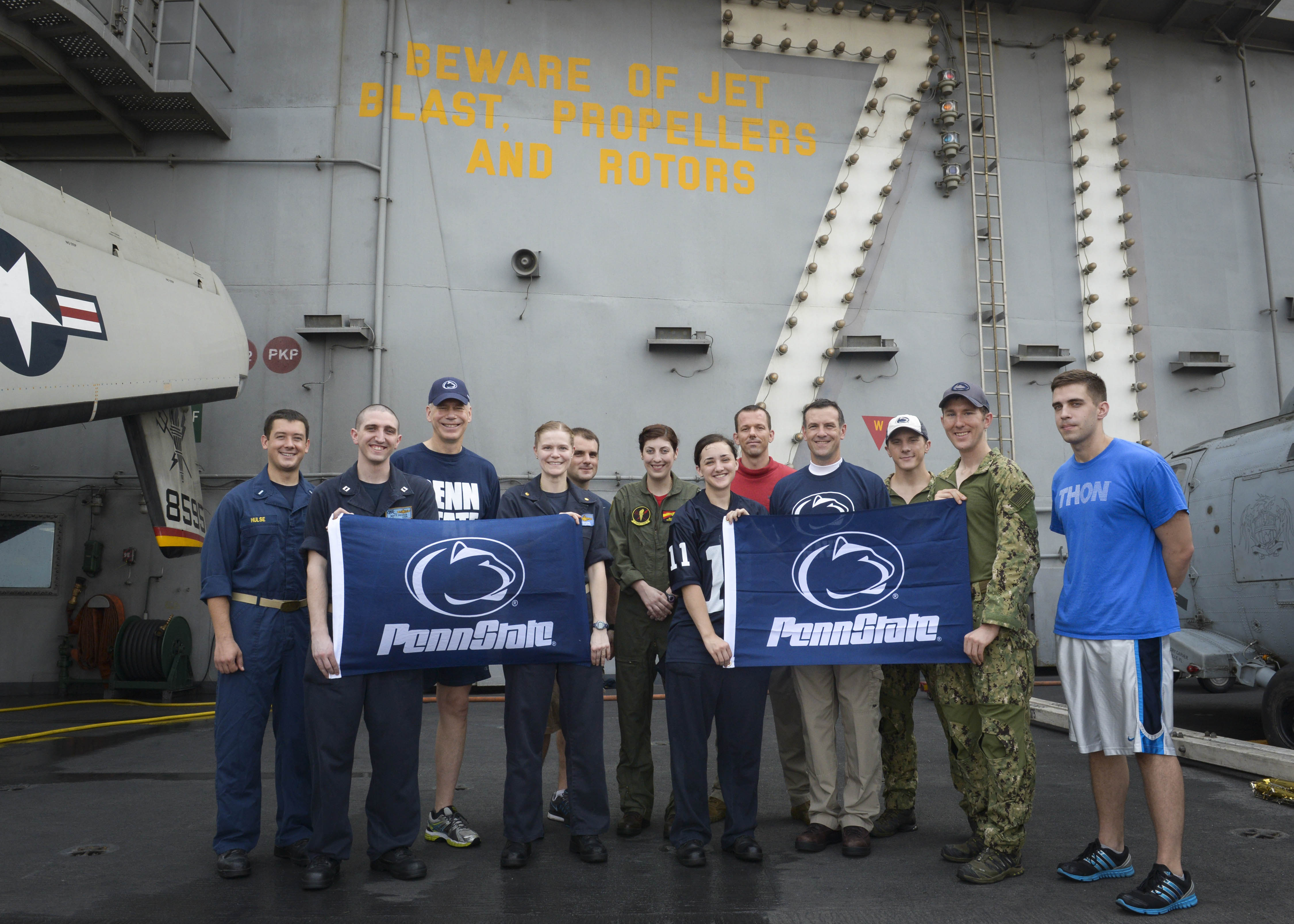 Penn State alumni stationed on the USS Theodore Roosevelt